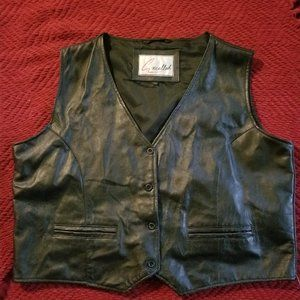 EXCELLED Leather Motorcycle Vest 3XL Reg